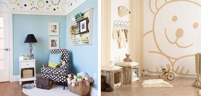 Izba pre najmenších, pestré farby