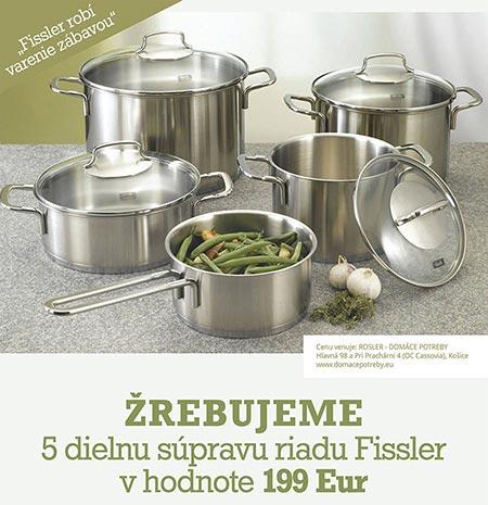 Fissler robí varenie zábavou, žrebovanie